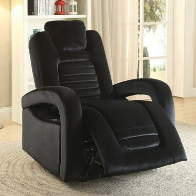 Timsbury Power Recliner Upholstery: Black