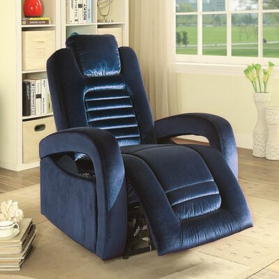 Timsbury Power Recliner Upholstery: Blue