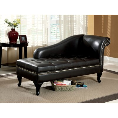 Amorita Chaise Lounge Upholstery: Black