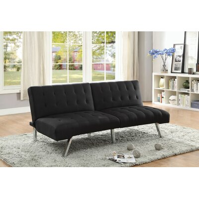 Tubbs Adjustable Sofa Bed Upholstery: Black