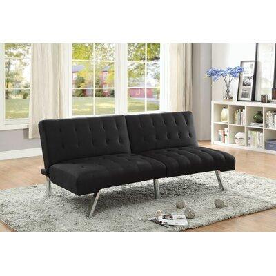 Tubbs Adjustable Sofa Bed Upholstery: Black