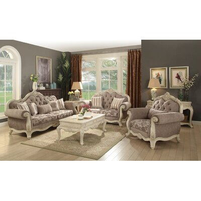 Boardwalk 3 Piece Living Room Set Upholstery: Gray