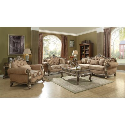 Boardwalk 3 Piece Living Room Set Upholstery: Vintage Oak
