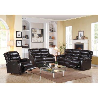 Tinnin Motion 3 Piece Living Room Set