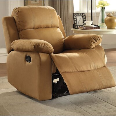Amelio Recliner Upholstery: Brown