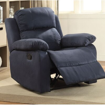 Amelio Recliner Upholstery: Blue