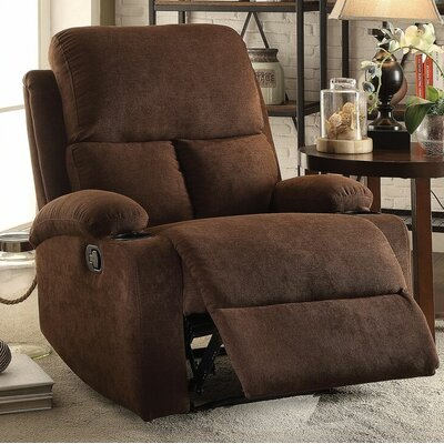 Tindle Recliner Upholstery: Chocolate