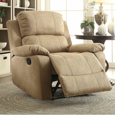 Amell Recliner Upholstery: Light Brown