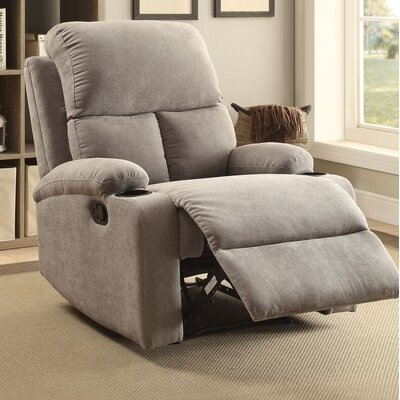 Tindle Recliner Upholstery: Gray