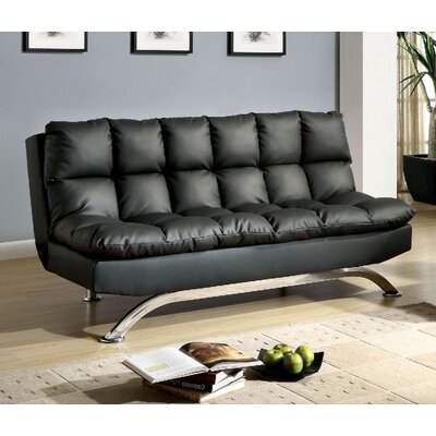 Javier Futon Sofa Upholstery: Black