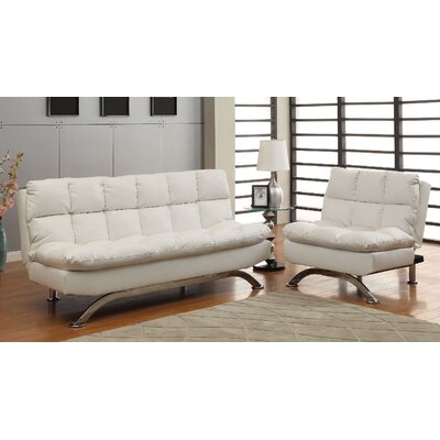 Jorgensen 2 Piece Living Room Set Upholstery: White