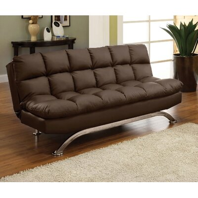 Javier Futon Sofa Upholstery: Dark Brown