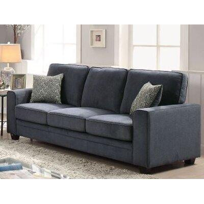 Cabell Sofa with Pillow Upholstery: Blue