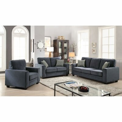 Cabell Loveseat with Pillow Upholstery: Blue