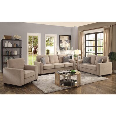 Cabell Loveseat with Pillow Upholstery: Khaki