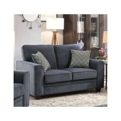 Cabell Sleeper Loverseat Upholstery: Blue