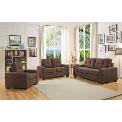 Pyne Loveseat Upholstery: Chocolate
