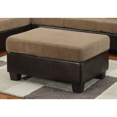 Telles Cocktail Ottoman Upholstery: Light Brown