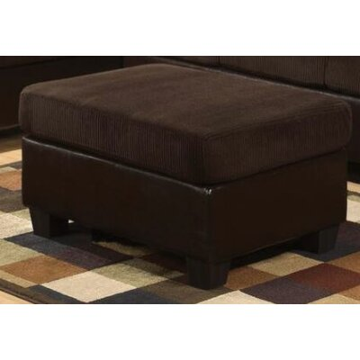 Telles Ottoman Upholstery: Chocolate