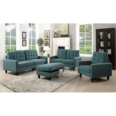 Cabe Loveseat Upholstery: Teal