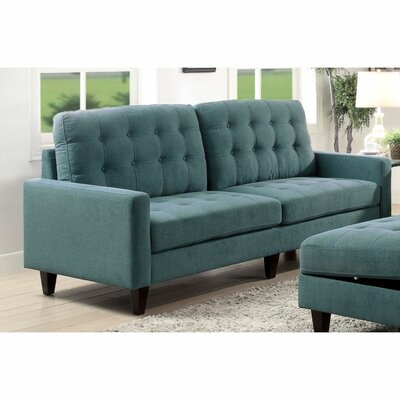Cabe Sofa Upholstery: Teal