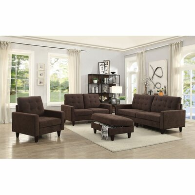 Cabe Loveseat Upholstery: Chocolate