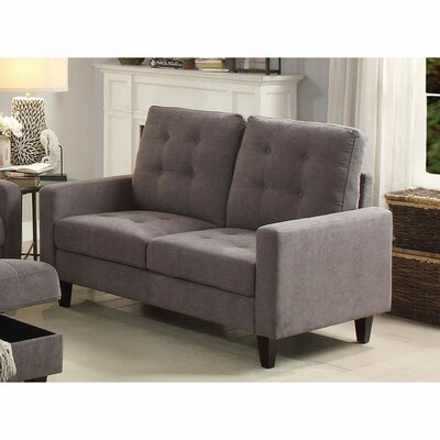 Cabe Loveseat Upholstery: Gray