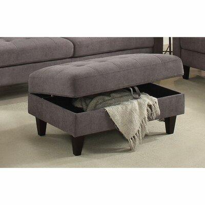 Cabe Storage Ottoman Upholstery: Gray