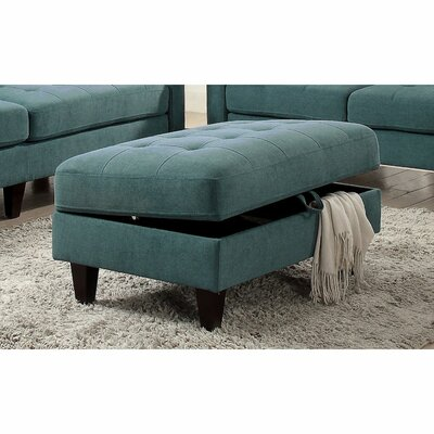 Cabe Storage Ottoman Upholstery: Teal