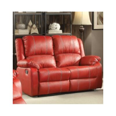 Swinford Motion Loveseat Upholstery: Red