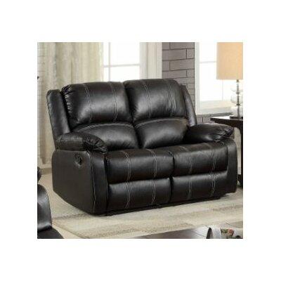 Swinford Motion Loveseat Upholstery: Black