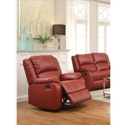 Swinford Rocker Recliner Upholstery: Red