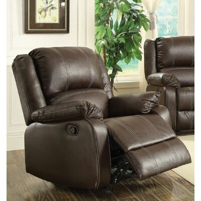 Swinford Rocker Recliner Upholstery: Brown
