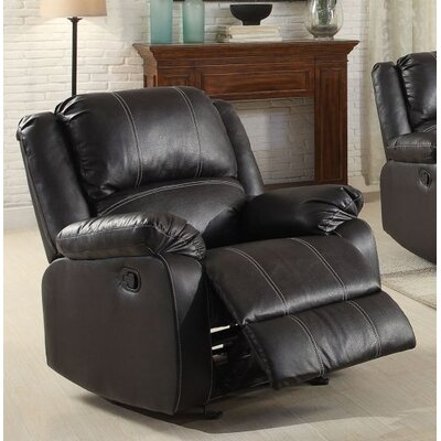 Swinford Rocker Recliner Upholstery: Black