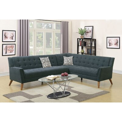 Exum 2 Piece Sectional Upholstery: Slate