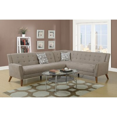 Exum 2 Piece Sectional Upholstery: Sand