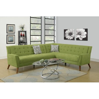 Exum 2 Piece Sectional Upholstery: Willow