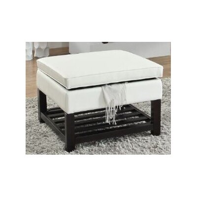 Focht Ottoman with Storage Upholstery: White