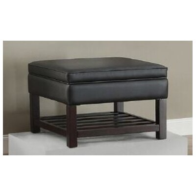 Focht Ottoman with Storage Upholstery: Black
