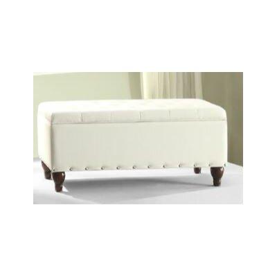 Surrey Storage Ottoman Upholstery: White
