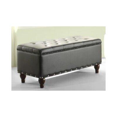 Surrey Storage Ottoman Upholstery: Black