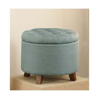 Basaldua Storage Ottoman Upholstery: Light Blue