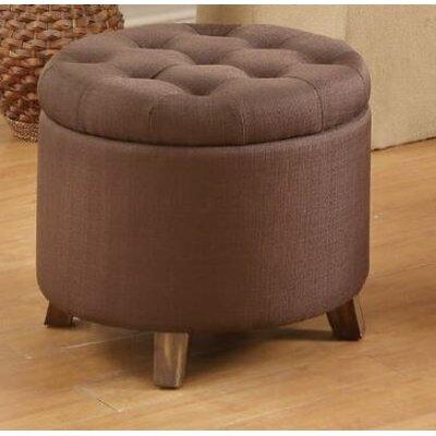 Basaldua Storage Ottoman Upholstery: Chocolate