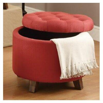 Basaldua Storage Ottoman Upholstery: Carmine