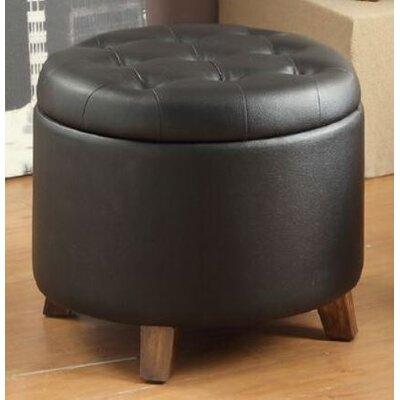 Basel Storage Ottoman Upholstery: Black