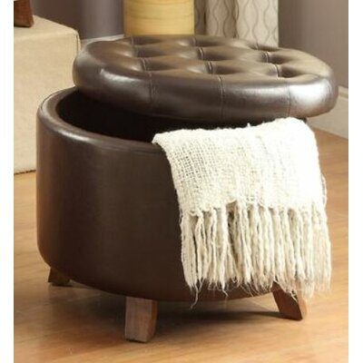 Basel Ottoman with Storage Upholstery: Brown
