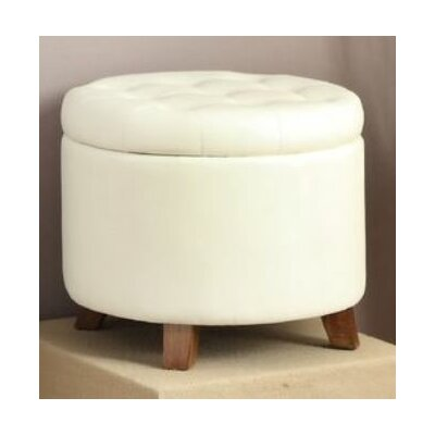 Basel Ottoman with Storage Upholstery: White