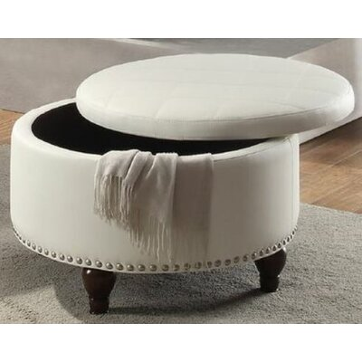 Haden Ottoman with Storage Upholstery: White