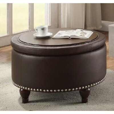 Haden Ottoman with Storage Upholstery: Brown
