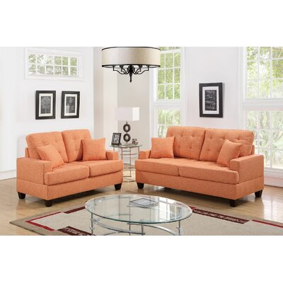 Woolridge 2 Piece Living Room Set Color: Citrus